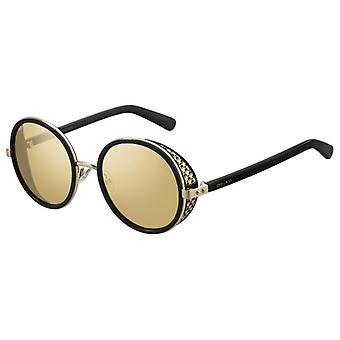 Jimmy Choo Andie/N/S 2M2/T4 Schwarz-Gold/Silber Spiegel Sonnenbrille