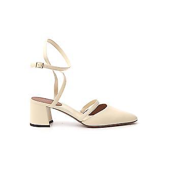 L'autre Koos Ldl02760cp26153020 Dames's White Leather Sandalen