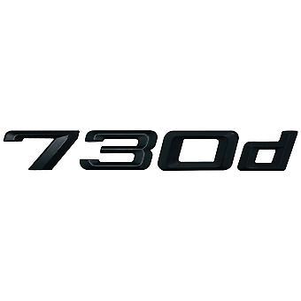 Matt Black BMW 730d Car Model Rear Boot Number Letter Sticker Decal Badge Emblem For 7 Series E38 E65 E66E67 E68 F01 F02 F03 F04 G11 G12