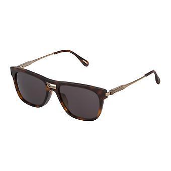 Dunhill SDH135 1AYP Shiny Dark Havana/Polarised Smoke Sunglasses