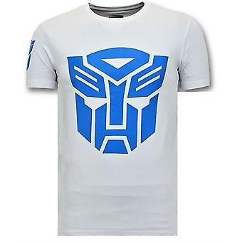 Cool T-paita - Transformers Robots Print - Valkoinen
