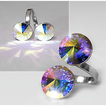 Ring med 2 Swarovski krystaller RMB 2.6