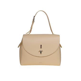 Furla 1056802 Women's Beige Leather Shoulder Bag