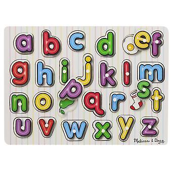 Melissa & Doug se inuti Peg pussel alfabetet