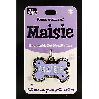 Wags & Whiskers Pet Identity Tag - Maisie