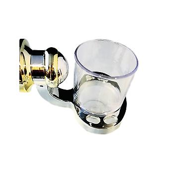 Porta Spazzolino Con Supporto, Bicchiere , In Abs, Completo Di Fissaggi