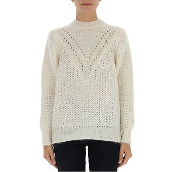 Alberta Ferretti 09245103v0002 Damen's Weiße Wolle Pullover