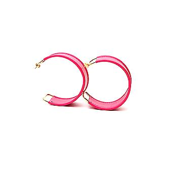 Jacquemus 194jw0319479400 Women's Pink Leather Earrings