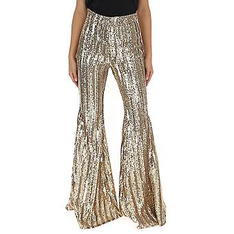 Amen Amw19320002 Damen's Gold Polyester Hose