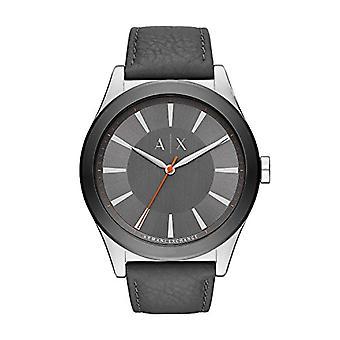 Armani Exchange Analog quartz men's watch with leather AX2335