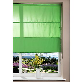 Corded Fabric Roman Window Blind - Home/Office - Solid Dark Green - 80x160cm