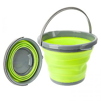 The Summit Pop! 10L Collapsible Bucket with Handle Green/Grey