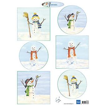 Marianne Design Decoupage sheets Tiny's Snowmen IT613 A4 (10-19)