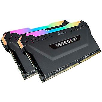 Corsair Vengeance RGB PRO 16 GB (2x8 GB) DDR4 2666MHz C16 XMP 2.0 RGB LED Led Illuminated Memory Kit Enthusiastic, Black