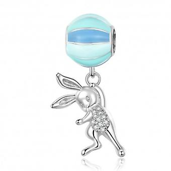 Sterling Silver Pendant Charm Flying Rabbit - 6330