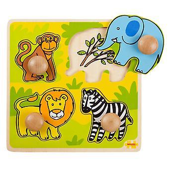 Bigjigs dřevěný můj první PEG puzzle-Safari