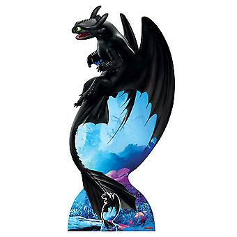 Toothless Night Fury from How to Train Your Dragon 3 Official Cardboard Cutout