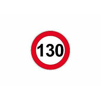 Stick sticker signage plate door speed limit sign 130