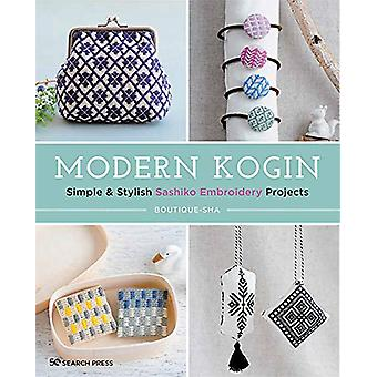 Kogin moderno - Semplice & amp; Eleganti progetti di ricamo Sashiko di Bou