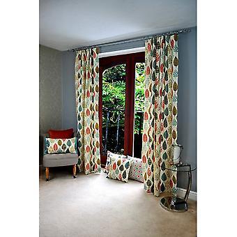 McAlister tekstiler Magda floral brent oransje gardiner