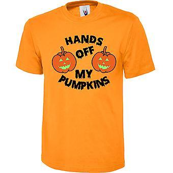 Hands Off zucche Halloween Premium 180GSM Unisex t-shirt 13 colori (XS-6XL) 301 da swagwear
