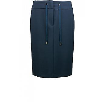 Bianca Navy Fitted Skirt
