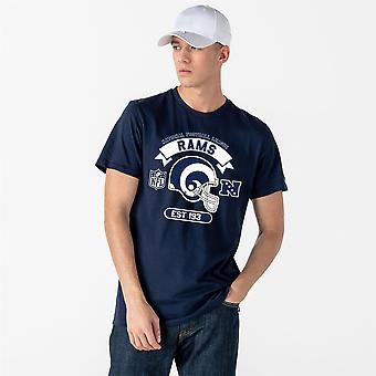 New Era and NFL Graphic Helmet T- Shirt ~ LA Rams