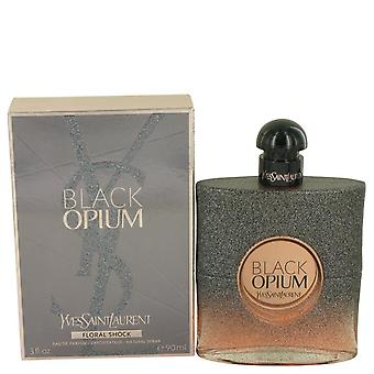 Black Opium Floral Shock Eau De Parfum Spray By Yves Saint Laurent 3 oz Eau De Parfum Spray