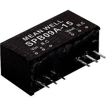 Mean Well SPB09B-03 DC/DC-konverter (modul) 2000 mA 9 W Nr. af udgange: 1 x