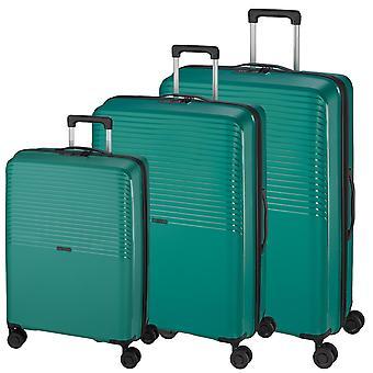 d&n Travel Line 4000 Suitcase Set 3-delige 4 wielen S-M-L, Groen