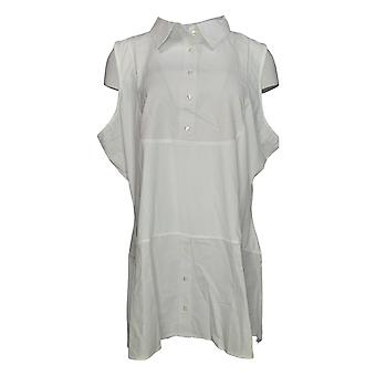 Kathleen Kirkwood Women's Plus Top Dictrac-Ease Chambray White A311148