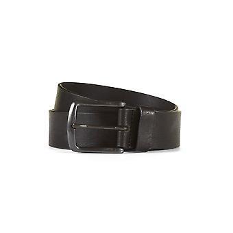 Leather belt henric black