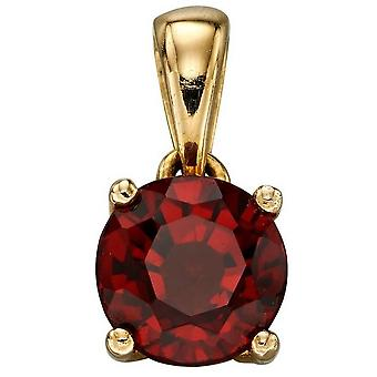 Elements Gold January Birthstone Pendant - Red/Gold