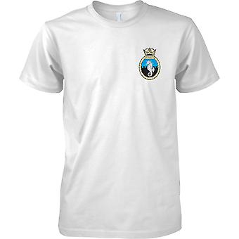 HMS Leeds Castle - afmonteret Royal Navy skib T-Shirt farve