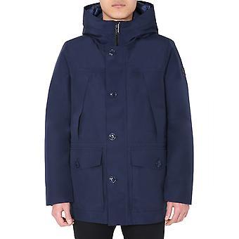 Woolrich Woou0179mrut20503827 Men's Blue Polyester Outerwear Jacket