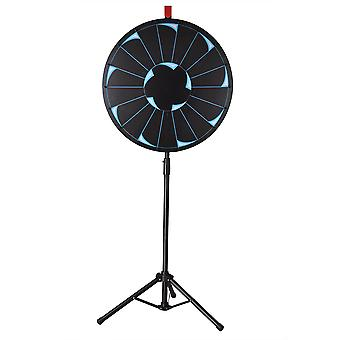 """WinSpin® 24"""" Editable Prize Wheel of Fortune 18 Slot Floor Stand Tripod Spinning Game Tradeshow Carnival"""