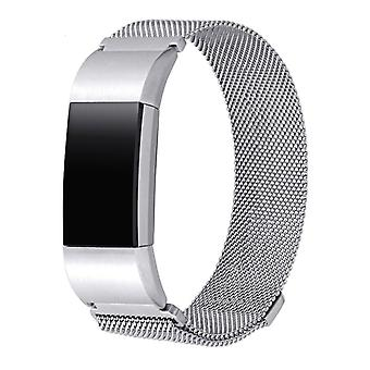 Fitbit Charge 2 braccialetto Milanoese loop - Argento - Piccolo