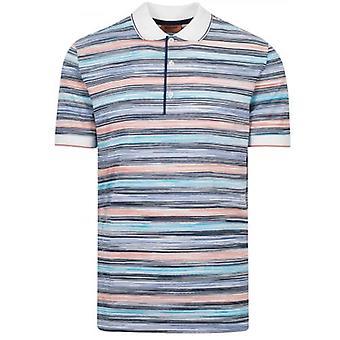 MISSONI Striped Short Sleeve Polo Shirt