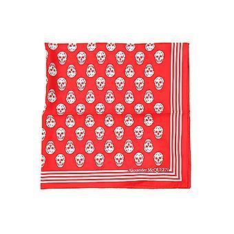 Alexander Mcqueen 5909293001q6478 Women's Red Silk Foulard