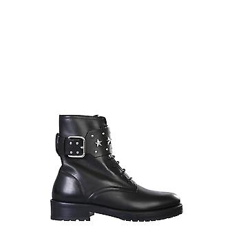Red Valentino Uq2s0e16erx0no Women's Black Leather Ankle Boots