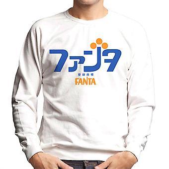 Camisola dos homens do logotipo japonês retro de Fanta 1970s