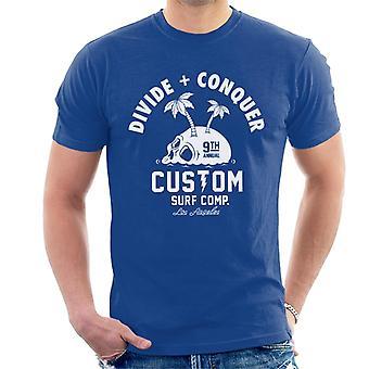 Teilen & erobern Benutzerdefinierte Surf Comp Männer's T-Shirt