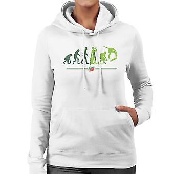 Mountain Dew Evolution Of A Skater Women's Hooded Sweatshirt