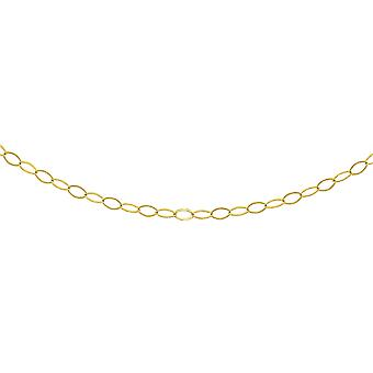 TJC 9ct Yellow Gold Chain Necklace for Women Size 18