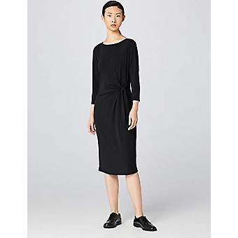 Meraki Women's Twist Midi Dress,  Black, EU M (US 8)