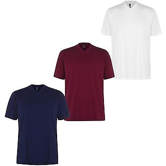 Donnay Three Pack V Neck T Shirt Hommes