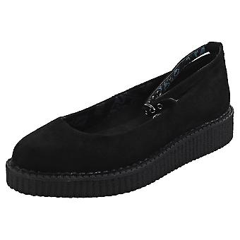 T.U.K Pointed Creeper Ballet Womens Creeper Shoes in Black