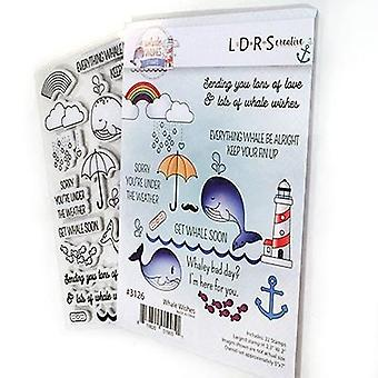 LDRS Creative Whale Wishes Rubber Stamps