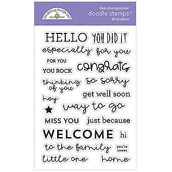 Doodlebug Clear Doodle Stamps - All Occasions