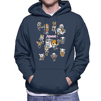 Aggretsuko Departamento de Contabilidade Montage Men's Hooded Sweatshirt